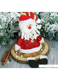 Мягкая игрушка Зимнее волшебство Дед Мороз в кафтане 30 см (красный)