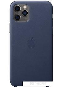 Чехол Apple Leather Case для iPhone 11 Pro (темно-синий)