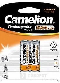 Аккумуляторы Camelion AA 2500mAh 2 шт. [NH-AA2500-BP2]
