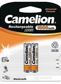 Аккумуляторы Camelion AAA 1000mAh 2 шт. [NH-AAA1000-BP2]
