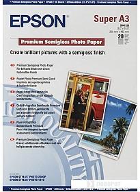Фотобумага Epson Premium Semigloss Photo Paper A3+ 20 листов (C13S041328)