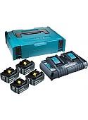 Аккумулятор с зарядным устройством Makita BL1860B + DC18RD (18В/6.0 а*ч + 18В)