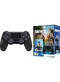 Геймпад Sony DualShock 4 v2 (черный) + ваучер Fortnite