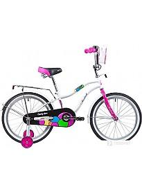 Детский велосипед Novatrack Candy 20 (белый, 2019)