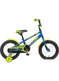 Детский велосипед Novatrack Extreme 14 (синий/зеленый, 2019)