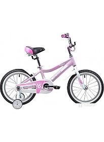 Детский велосипед Novatrack Novara 16 (розовый/белый, 2019)