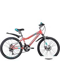 Велосипед Novatrack Novara 24 (красный, 2019)