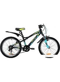 Детский велосипед Novatrack Tornado 20 (черный/голубой, 2019)