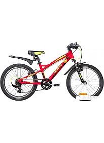 Детский велосипед Novatrack Tornado 20 (красный/черный, 2019)