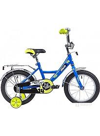 Детский велосипед Novatrack Urban 14 (синий/желтый, 2019)