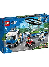 Конструктор LEGO City 60244 Полицейский вертолетный транспорт