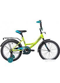 Детский велосипед Novatrack Vector 18 (салатовый/голубой, 2019)