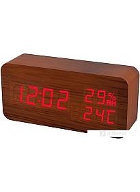 Радиочасы Perfeo Wood PF-S736 (коричневый) PF_A4391
