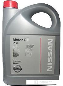 Моторное масло Nissan Motor Oil 5W-30 5л [KE900-99943]