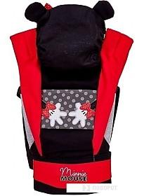 Рюкзак-переноска Polini Kids Минни Маус с вышивкой 0001700-9 (черный/красный)