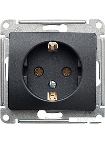 Розетка Schneider Electric Glossa GSL000743 (антрацит)