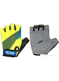 Перчатки STG Х87910 XL (черный/салатовый/синий)