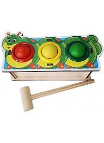 Молоточек WoodLand Toys Гусеница 115201
