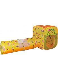 Игровая палатка Ching-ching Дом Бабочки (квадрат+туннель)