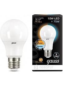 Светодиодная лампа Gauss E27 10 Вт 2700 K [102502110-T]