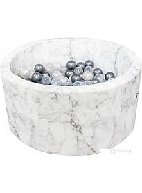Сухой бассейн Misioo 90x40 200 шаров (белый мрамор)