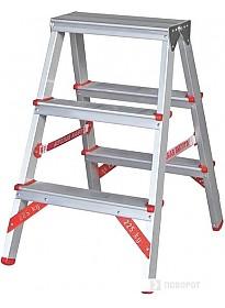 Лестница-стремянка Новая высота NV 312 двухсторонняя профессиональная 2x3 ступеней
