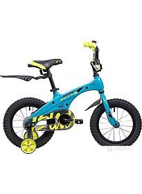 Детский велосипед Novatrack Blast 14 (голубой/желтый, 2019)