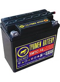 Мотоциклетный аккумулятор Tyumen Battery Лидер 3МТС-18 (18 А·ч)