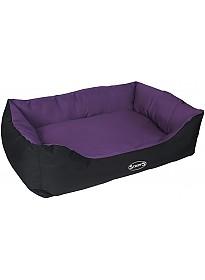 Лежак Scruffs Expedition Box Bed с бортиком 90 см (фиолетовый)