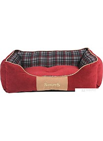 Лежак Scruffs Highland 932084 (красный)