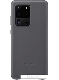 Чехол Samsung Leather Cover для Samsung Galaxy S20 Ultra (серый)