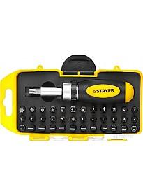 Отвертка с набором Stayer 2557-H38 (38 предметов)