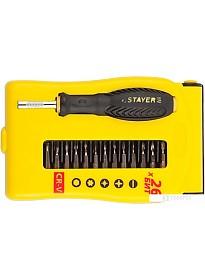 Отвертка с набором Stayer 25614-H28 (28 предметов)