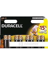 Батарейки DURACELL AA 8 шт.