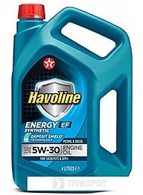 Моторное масло Texaco Havoline Energy EF 5W-30 4л