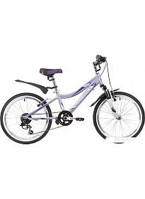 Детский велосипед Novatrack Novara 20 (сиреневый/белый, 2019)
