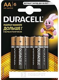 Батарейки DURACELL AA 6 шт.