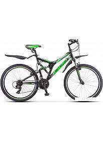 Велосипед Stels Challenger V 26 Z010 2020 (черный/зеленый)