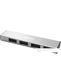 USB-хаб Ritmix CR-2407 (серебристый)