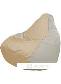 Кресло-мешок Flagman Груша Мини Г0.1-152 (светло-бежевый/белый)