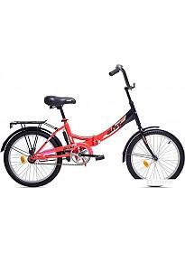 Велосипед AIST Smart 20 1.0 (красный/черный, 2019)