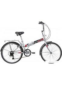 Велосипед Novatrack TG-24 Classic 6.0 NF 2020 (серый)