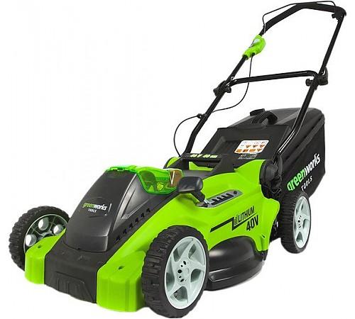 Колёсная газонокосилка Greenworks G40LM40 (с аккумулятором)