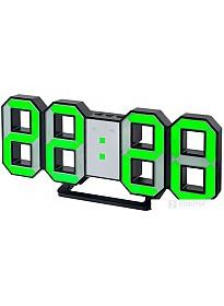 Радиочасы Perfeo Luminous PF-663 (черный/зеленый)