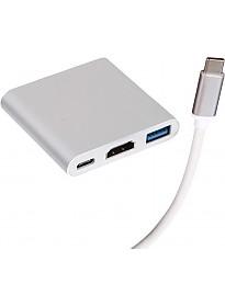Док-станция Perfeo USB Type-C 3in1 PF-Type-C-11