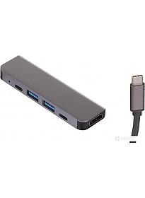Док-станция Perfeo USB Type-C 5in1 PF-Type-C-12