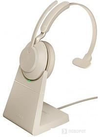 Наушники Jabra Evolve2 65 MS Mono USB-A Desk (бежевый)