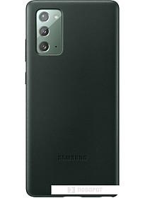 Чехол Samsung Leather Cover для Galaxy Note 20 (зеленый)