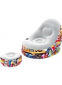 Надувное кресло Bestway Graffiti Comfort Cruiser 75076