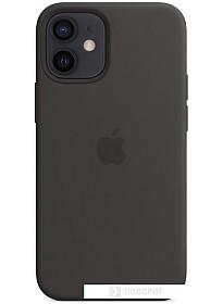 Чехол Apple MagSafe Silicone Case для iPhone 12 mini (черный)